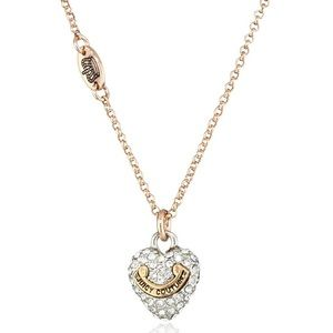 Juicy Couture Pave Heart Necklace Gold